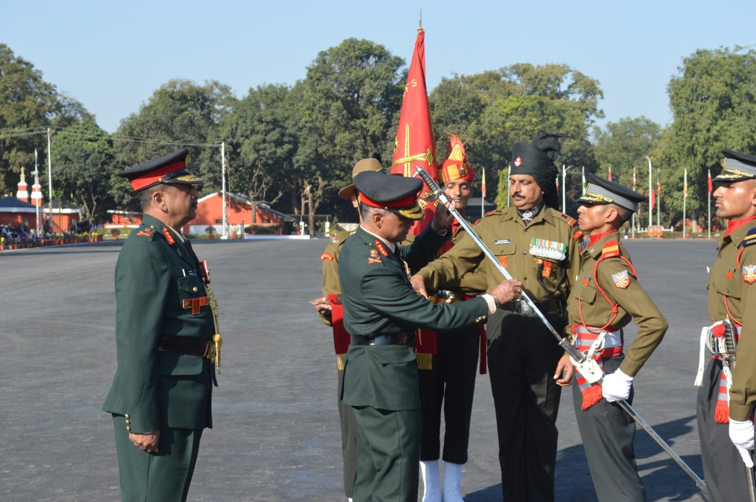 Sword of Honour being presented to AUO Arun Thakur