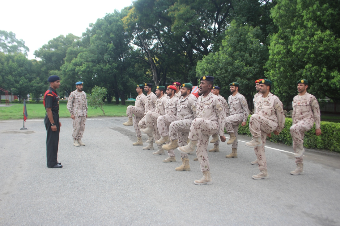 UAE Soldiers undergoing Drill Practice at Indian Military Academy.JPG